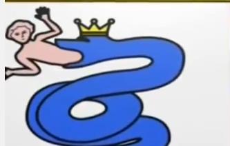 герб с ребёнком из змеи