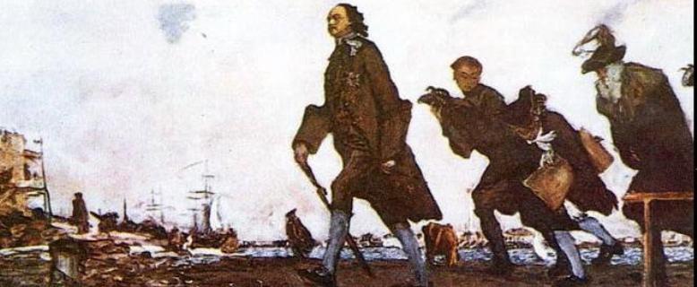 Пётр I перенёс столицу России из Москвы в Санкт-Петербург