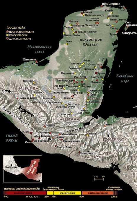 Города-государства майя.