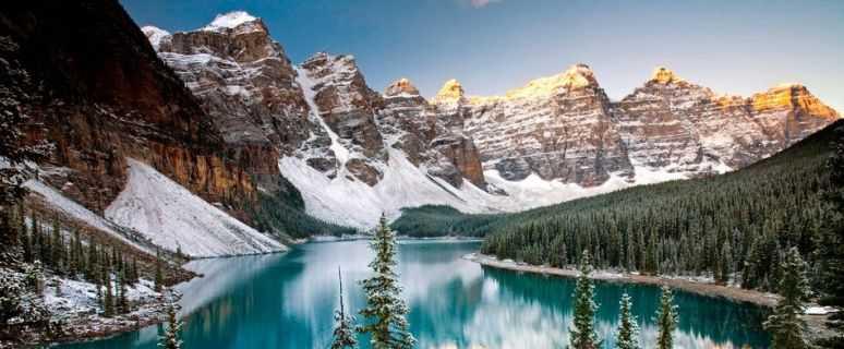 Чудеса планеты. Озеро Морейн. Канада