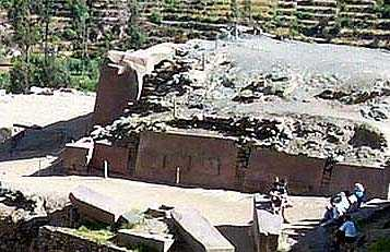 Рис. 6. Боковая (восточная) сторона Храма Солнца