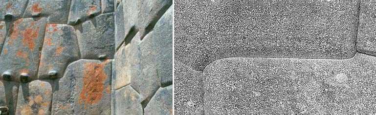 Рис. 11. Примеры каменной кладки в Ольянтайтамбо