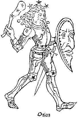 Средневековое изображение Ориона