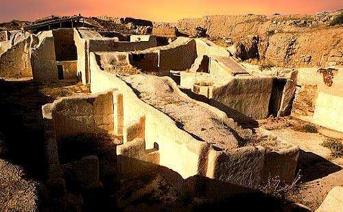 Развалины царского дворца в городе Эбла