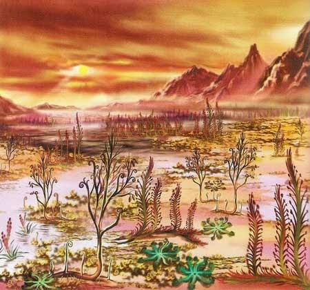 Растения начали осваивать сушу в силурский период