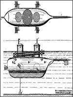 В 1857 году сообщалось, что К.A. Шильдер применил боевые ракеты на первой в мире цельнометаллической подводной лодке