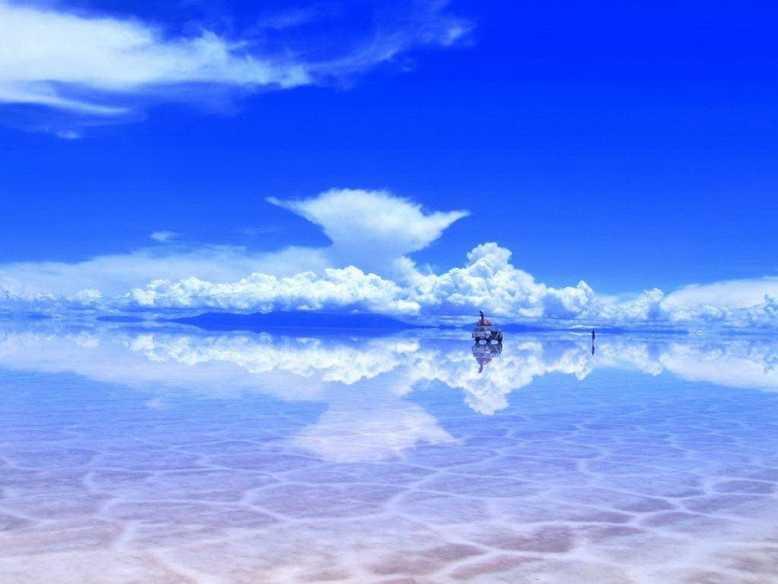 Солончак Уюни зеркало