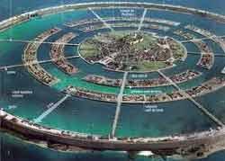 Центральный остров Атлантиды был надежно защищен