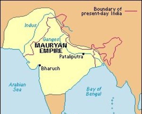 Второе крупное государство в Индии. Империя Маурьев 1