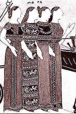 Три мойры и Фемида.