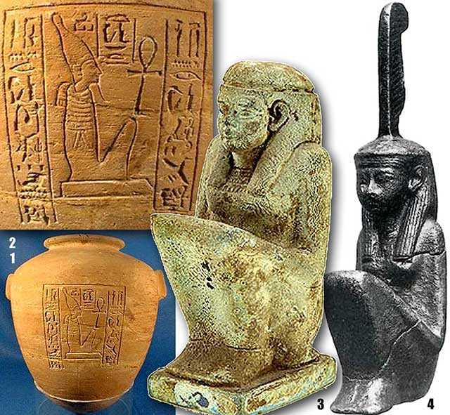 Египетские Маат, сидящие в позе Утки.
