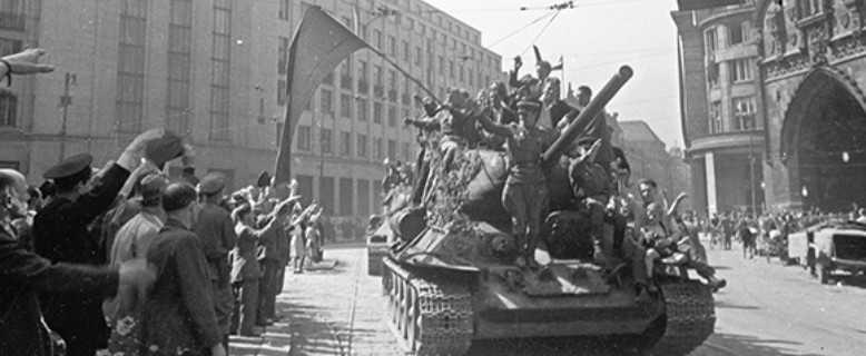 9 мая наши войска зашли в Прагу