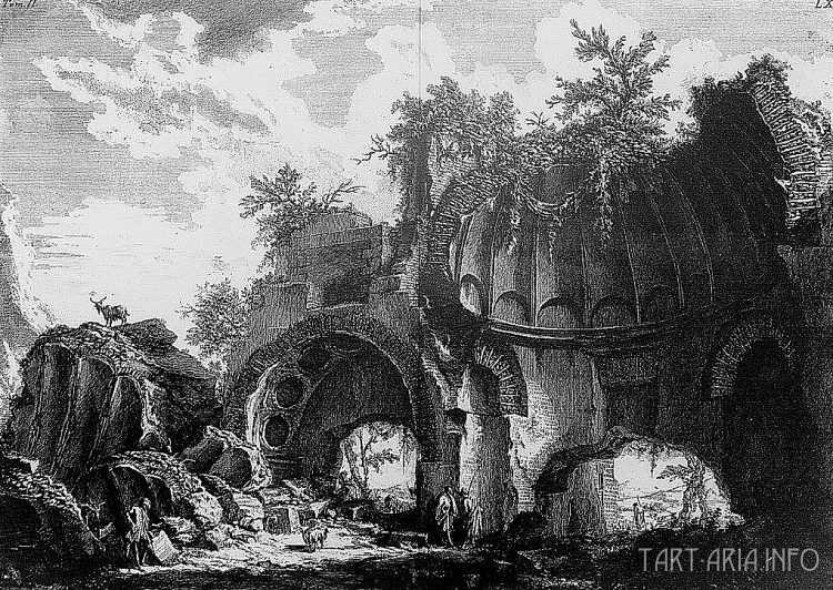 Руины неопознанных городов на гравюрах XVIII века 3