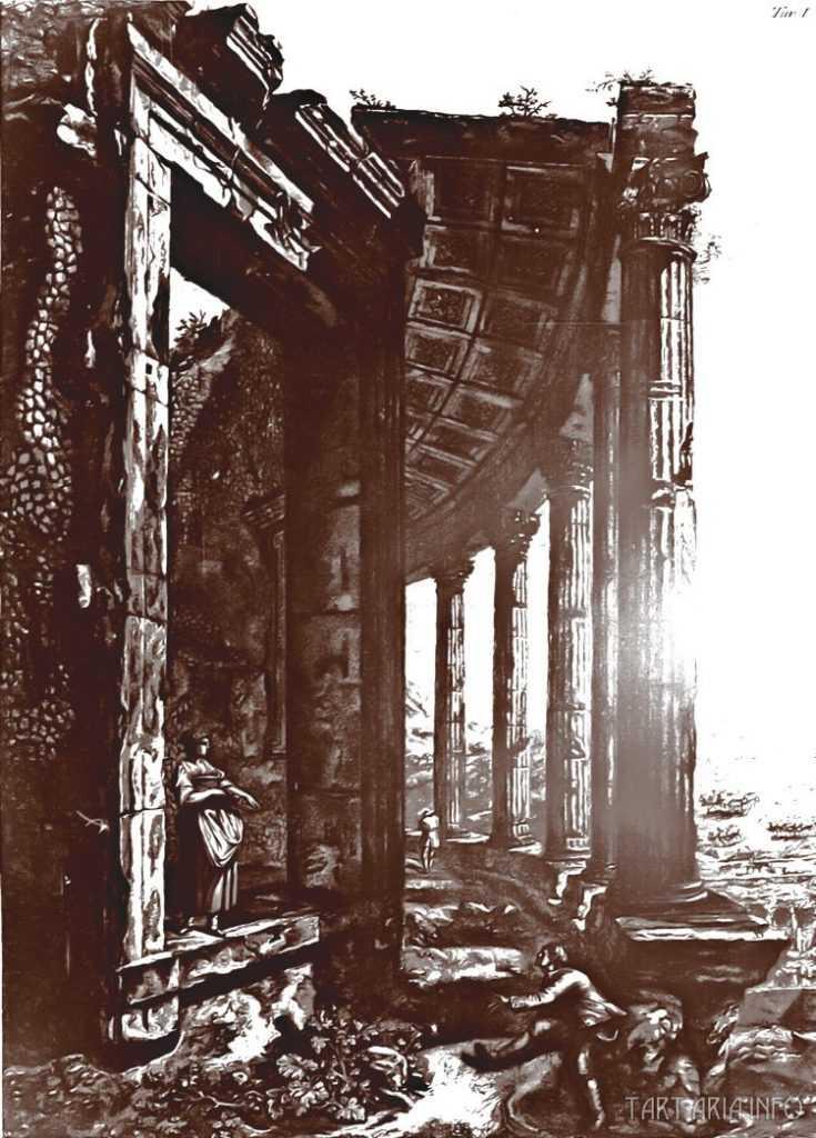 Руины неопознанных городов на гравюрах XVIII века 15
