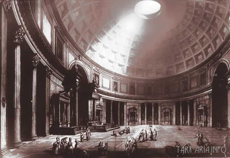 Руины неопознанных городов на гравюрах XVIII века 12