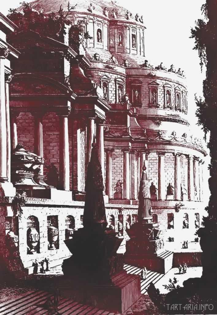 Руины неопознанных городов на гравюрах XVIII века 13