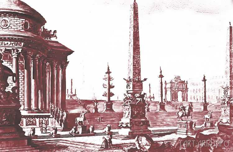 Руины неопознанных городов на гравюрах XVIII века 7