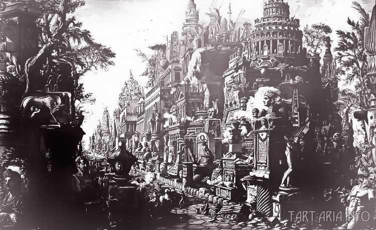 Руины неопознанных городов на гравюрах XVIII века 5