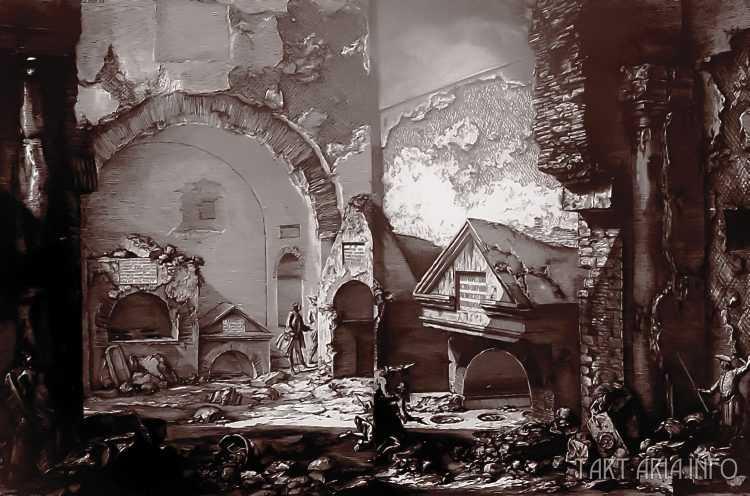Руины неопознанных городов на гравюрах XVIII века 6