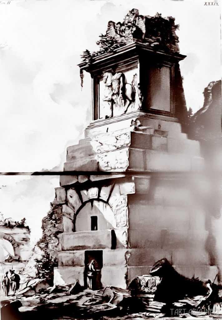 Руины неопознанных городов на гравюрах XVIII века 10