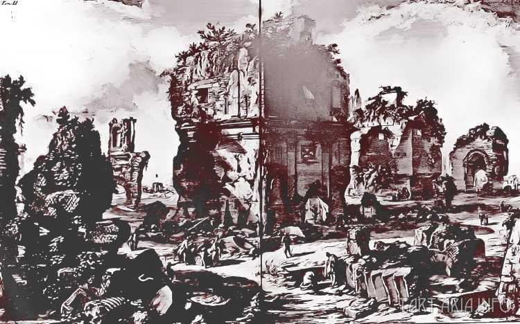 Руины неопознанных городов на гравюрах XVIII века 11