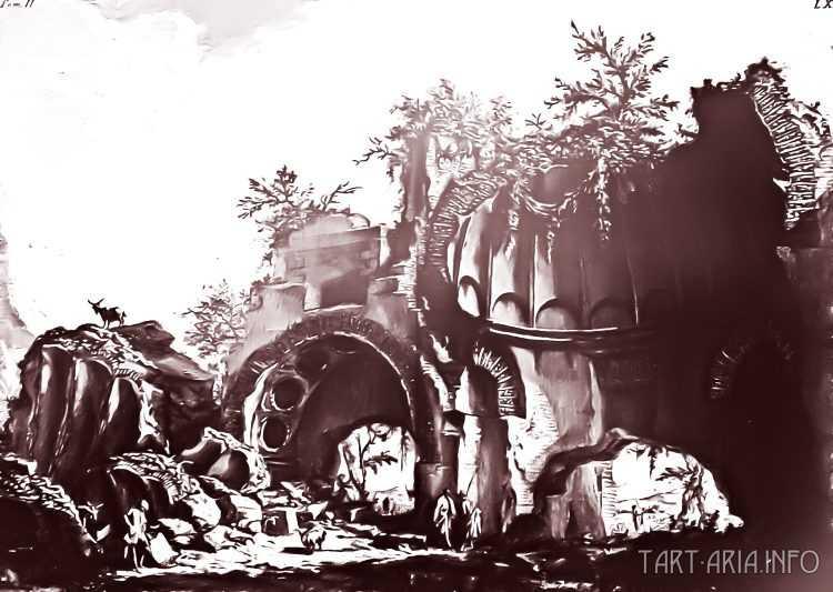Руины неопознанных городов на гравюрах XVIII века 4