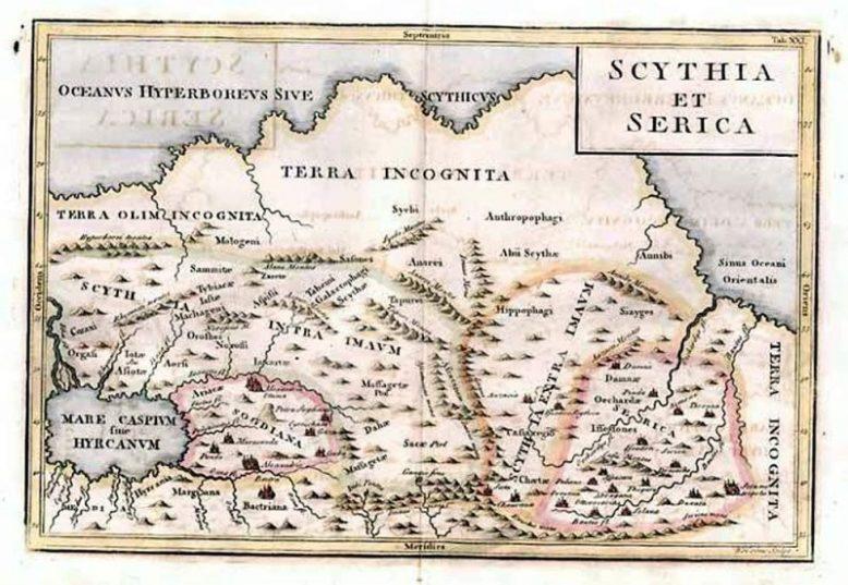 Тартария в Атласе Азии Николаса Сансона 1653 года 1